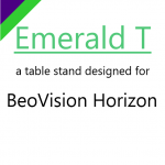 Emerald T, the table stand designed for BeoVision Horizon