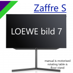 Zaffre S designed for LOEWE bild 7 manual & motorised rotating table & floor stand