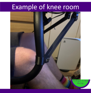Example of knee room (1)
